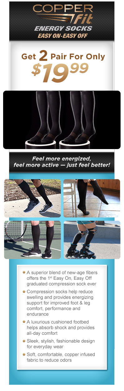 Order Copper Fit™ Energy Socks Now!